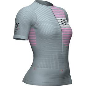 Compressport Triathlon Postural Top z zamkiem błyskawicznym Kobiety, grey